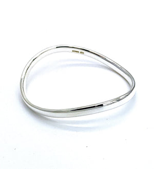 Sterling Silver Infinity Wave Bangle