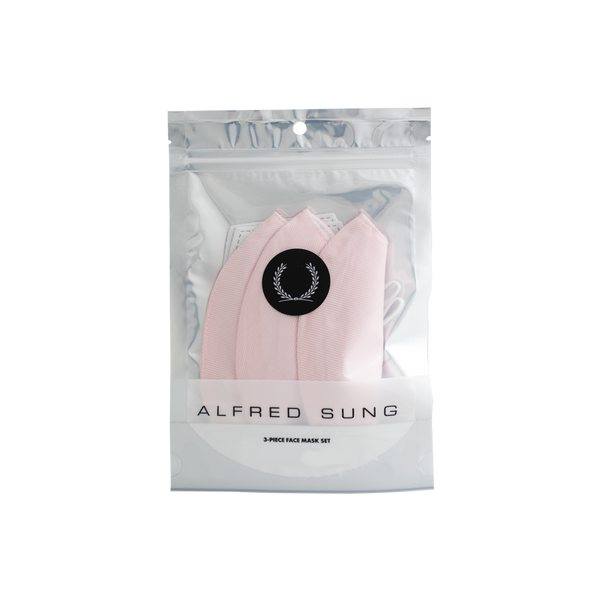 All-Pink Twill Face Mask 3-Pack - Alfred Sung