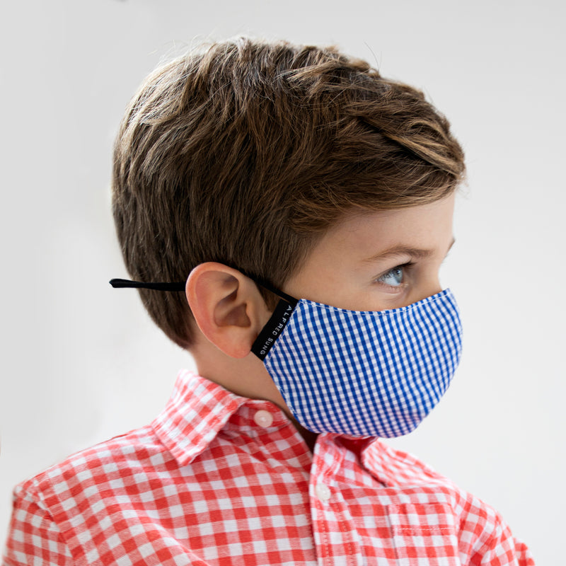 Kids Gingham Face Mask 3-Pack - Alfred Sung