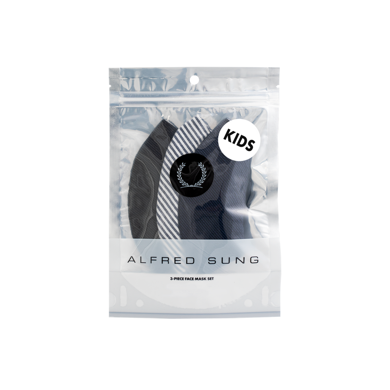 Kids Seersucker Face Mask 3-Pack - Alfred Sung