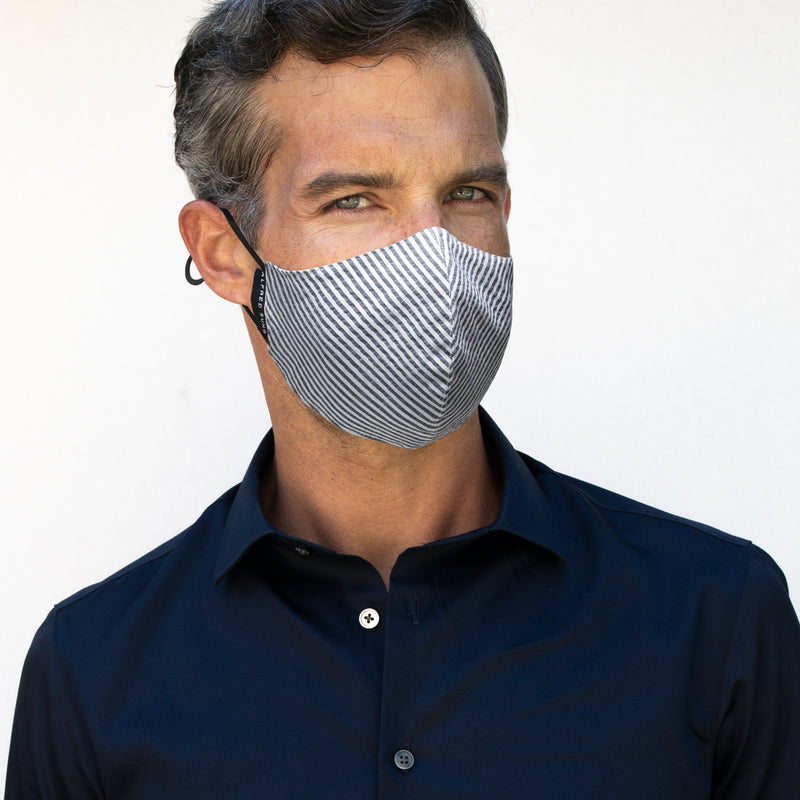 Seersucker Face Mask 3-Pack - Alfred Sung