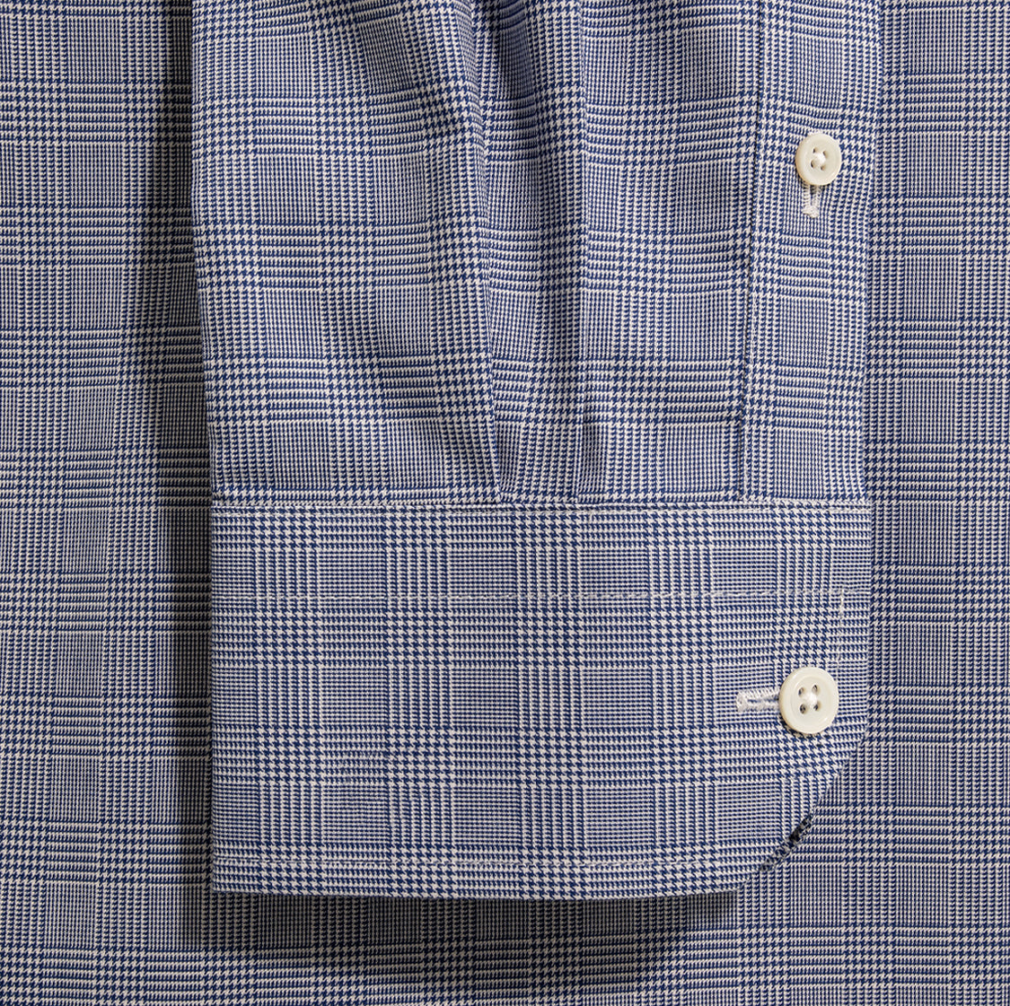 Alfred-Sung-Mens-Classic-Shirt-Monogram-PrinceOfWales-Navy