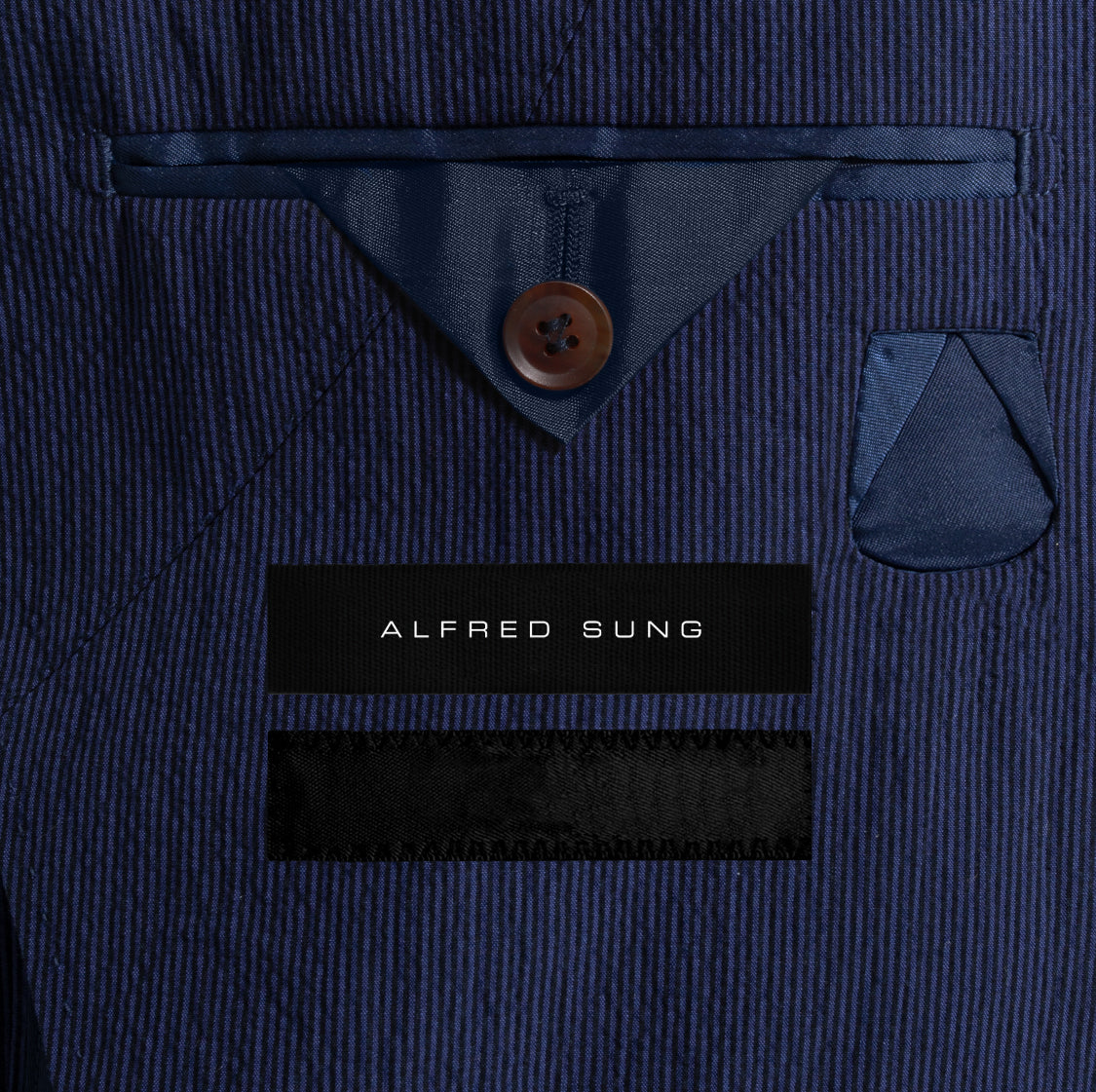 Alfred-Sung-Navy-Seersucker-Jacket-Monogram