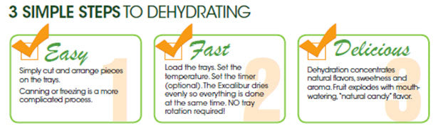 3 Simple Steps To Dehydrating