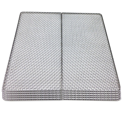 "5-pack 100% Stainless Steel Replacement Tray 15""x15""-Trays-Excalibur Dehydrator"