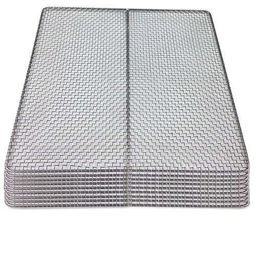 "9-pack 100% Stainless Steel Trays 15""x15"""