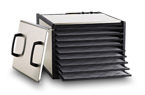 Excalibur 9-Tray Outer Case Stainless Steel w/Plastic Trays