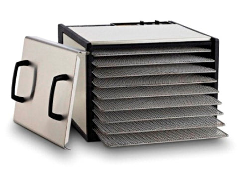 Excalibur 9-Tray Outer Case Stainless Steel w/Stainless Steel Trays