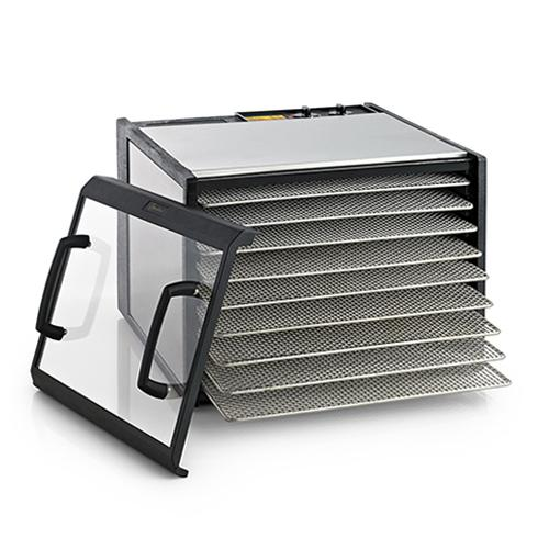Excalibur 9-Tray Clear Door Stainless Steel W/Stainless Steel Trays Refurb