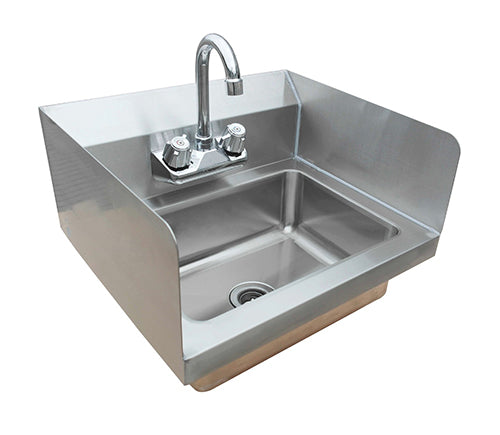 "1 Compartment Sink Wall Mount 14"" x 10"" x 5"" 304 SS"