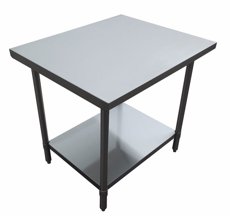 "30"" depth Prep Table with Undershelf, Flat Top"