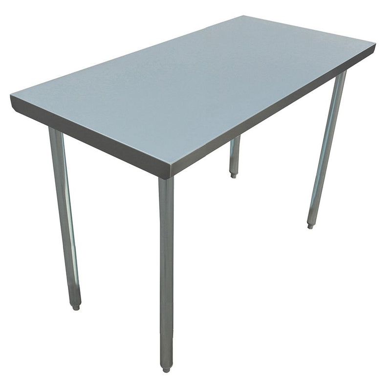 "30"" depth Prep Table with Open Base, Flat Top"