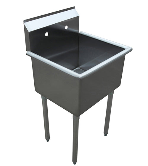 "1 Compartment Sink Free Standing 18"" x 18"" x 13"" 430 SS"
