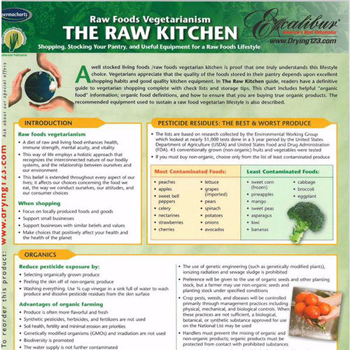 Raw Foods Vegetarianism – Raw Kitchen Info Chart