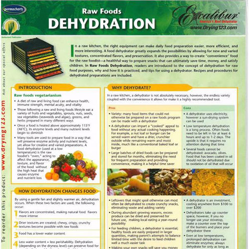 Raw Food Dehydration- Info Chart
