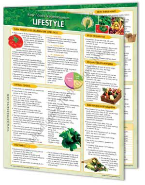 Raw Foods Vegetarianism –Lifestyle Info Chart