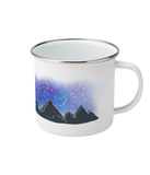 outdoor camping mug enamel with constellation design
