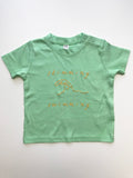 Mint green baby toddler tshirt with swim print