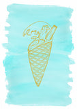 Colourful ice cream wall art for nurseries and homes