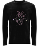 Love Orbit - Heart and Planets - Adult Organic Long Sleeve Tee