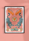 Tiger Tiger Art Print in Pink