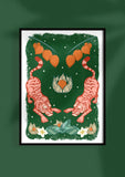 Tiger Tiger Art Print in Green