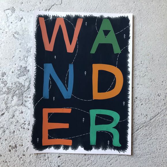 Wander in Blue -A4 Sample