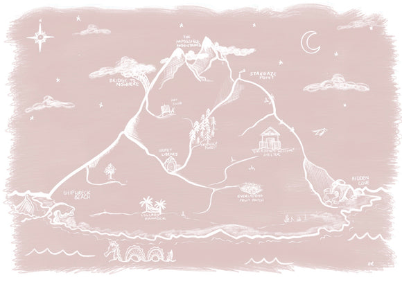 Imagination Island Art Print - Blushed Beige