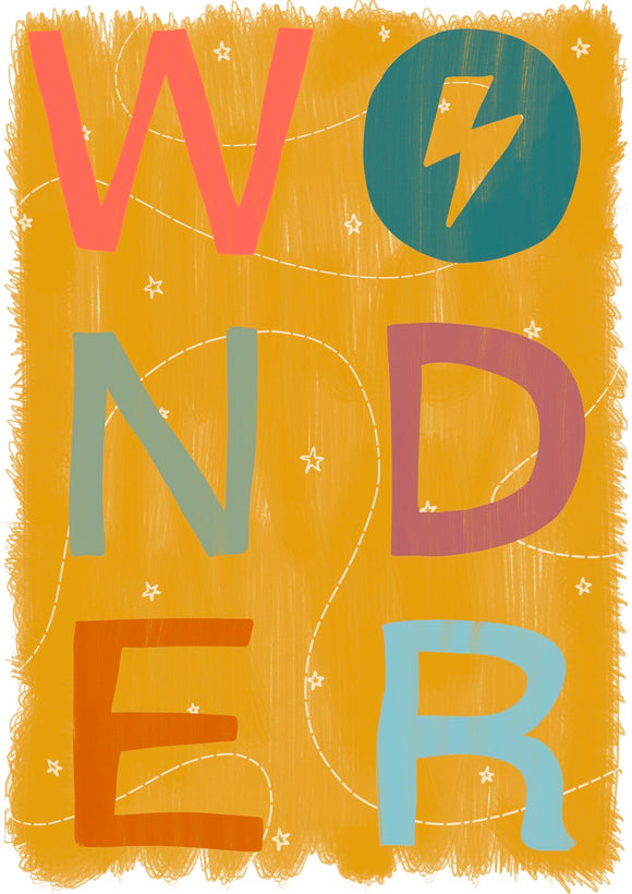 Wonder Art Print -Ochre