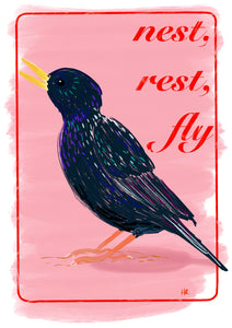 Nest, rest, fly Art Print