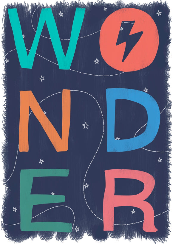 Wonder Art Print -Dusky Blue
