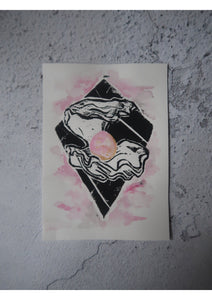 Old Stock - Shell Lino Print