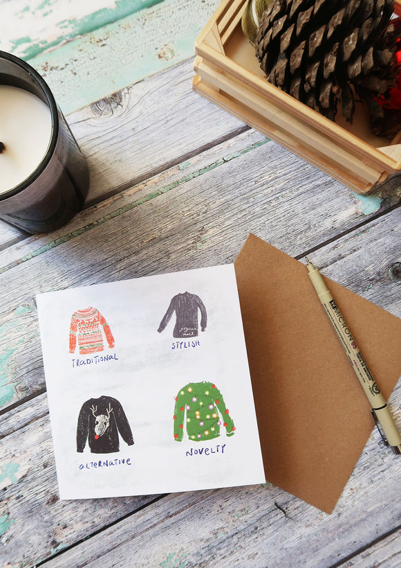 christmas jumper styles christmas card