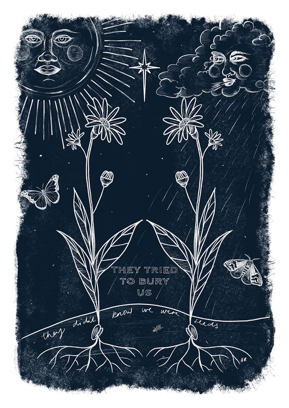 Buried Seeds Art Print