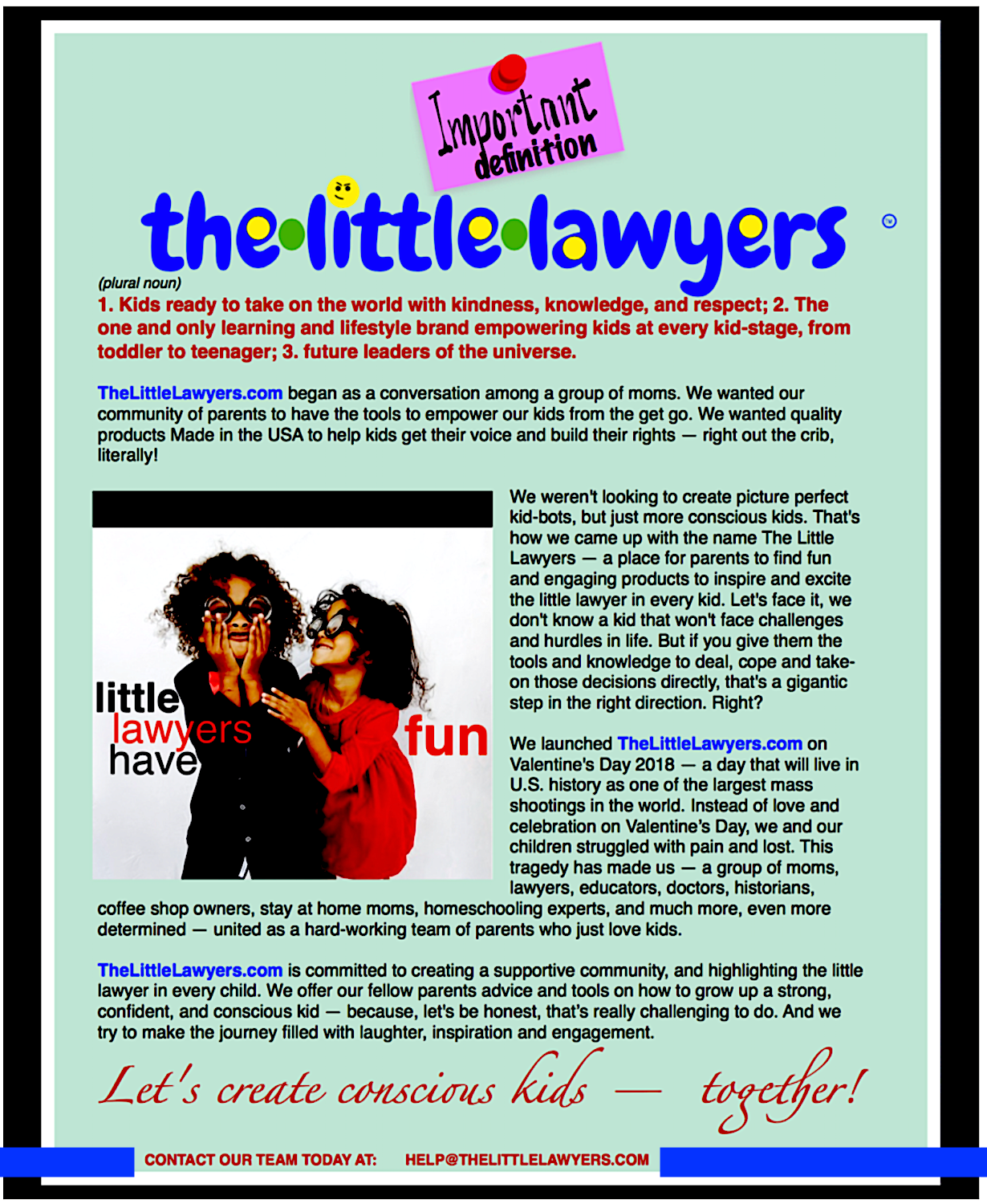 About The Little Lawyers, the award winning curriculum empowering kids to know the law and their rights.