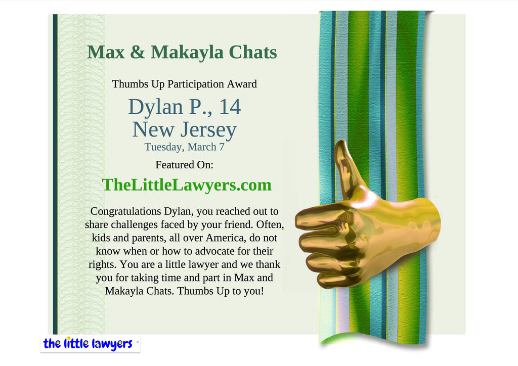 Messages To/From Max and Makayla – Page 2 – theLittleLawyers com
