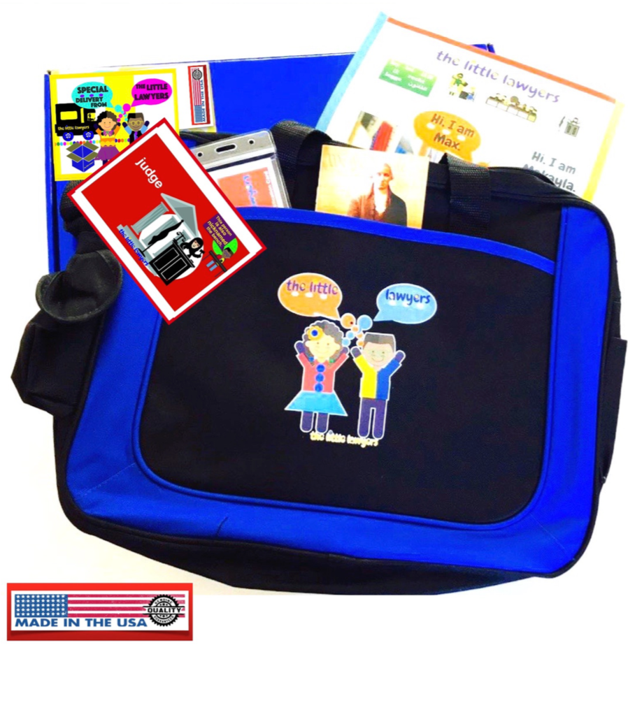 The Little Lawyers signature kid's briefcase - theLittleLawyers.com - inspiring & exciting the little lawyer in every kid