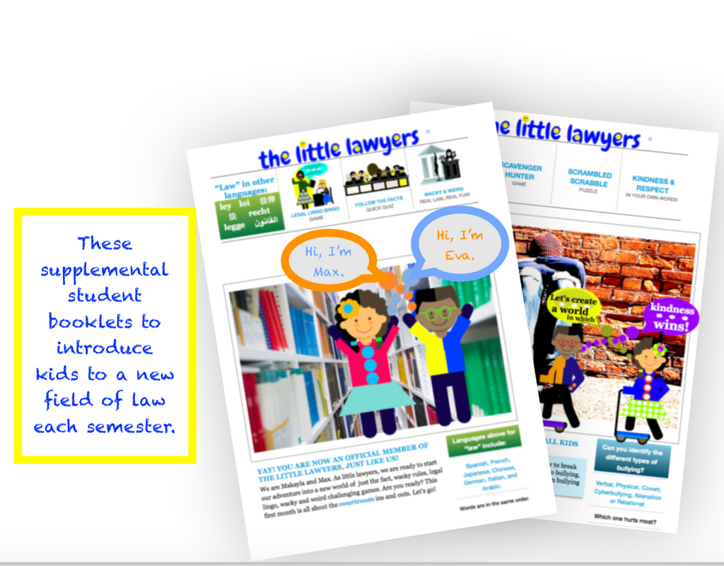 Kids' Law Booklets - theLittleLawyers.com - inspiring & exciting the little lawyer in every kid