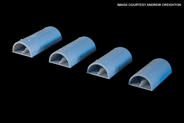 Engine Cowls for Revell X-Wing 1/29 scale