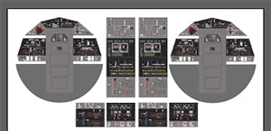 Decal sheet for DeAgostini Millennium Falcon v.2 Cockpit Replacement Set
