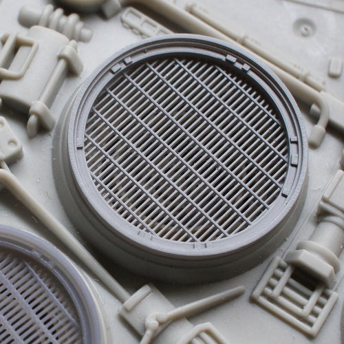 Set of Exhaust Ports with Grilles and Fans for the Engine Deck for 29 inch long 1/48 Hasbro Hero Millennium Falcon