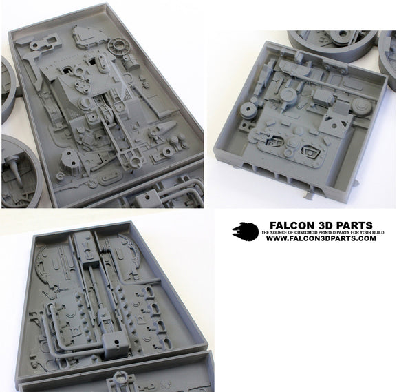 Trapezoid Maintenance Bays for 29 inch long 1/48 Hasbro Hero Millennium Falcon
