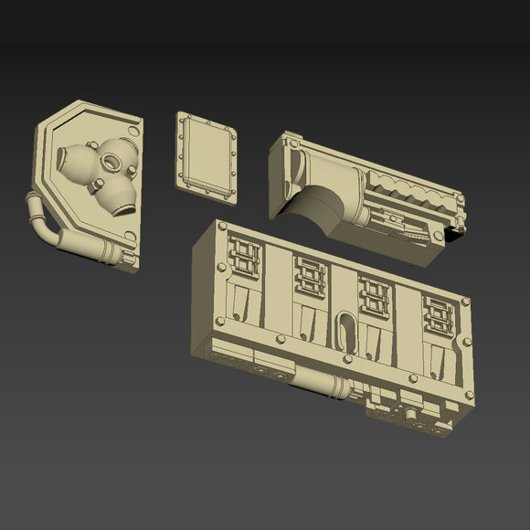 Greeblie Set for Studio Scale Y-Wing - Back Section - Starboard Parts