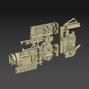 Greeblie Set for Studio Scale Y-Wing - Middle Section - Starboard Parts