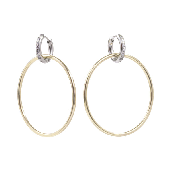 stainless steel 2in1 hoop earrings hypoallergenic women T119E001ARDO MIA JEWELRY