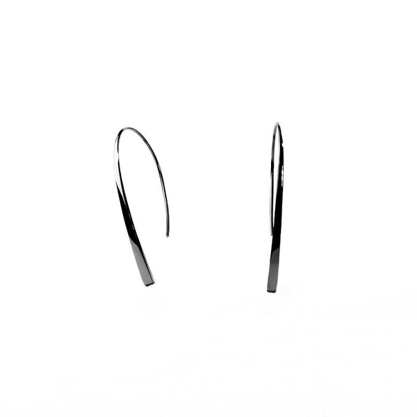 modern minimal black pendant earrings stainless steel T217E002NO MIAJWL