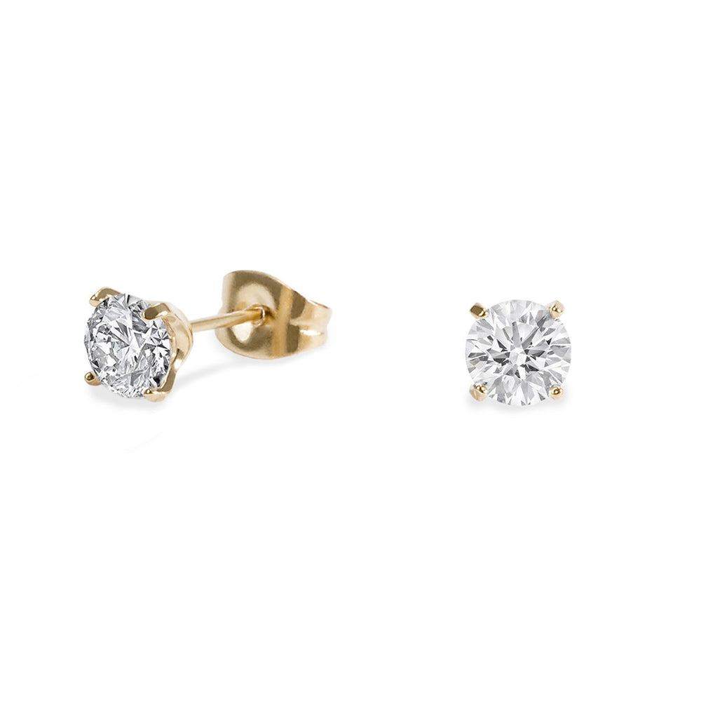 12cbfabbd 5mm gold cz stud earrings in stainless steel - hypoallergenic – Mia ...