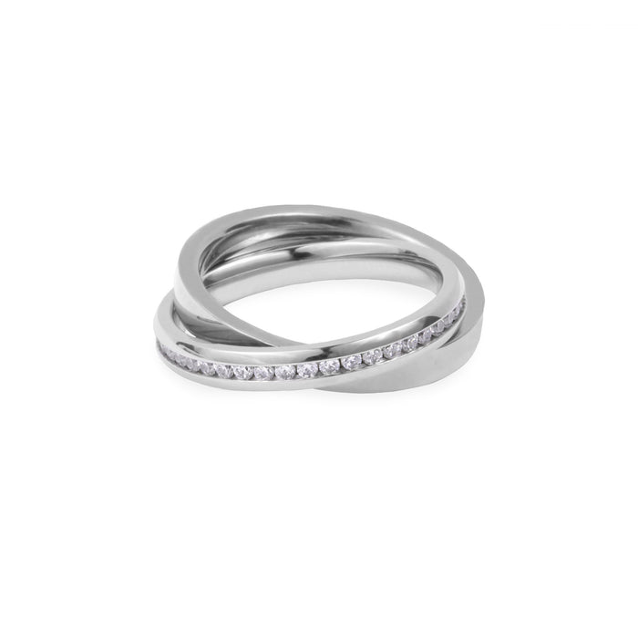 modern ring stones stainless steel hypoallergenic T418R005AR