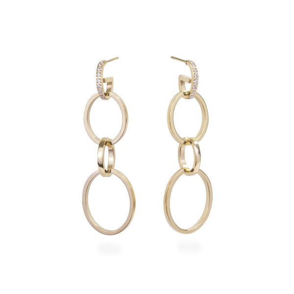 4-in-1 gold convertible hoop earrings stainless steel boucles d'oreilles anneaux acier inoxydable MIA T419E005DO