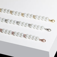 pearls bracelet with stones